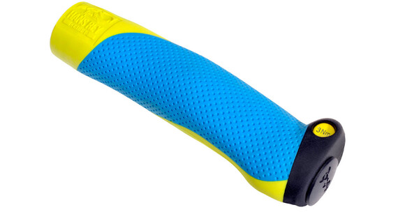 SQlab 711 MX - Grips - ltd. Hans Rey jaune/bleu